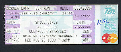 Original 1998 Spice Girls Unused Full Concert Ticket Dallas TX Spiceworld Tour