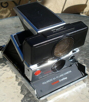 Vintage POLAROID SX-70 LAND CAMERA SONAR ONESTEP Tested and Works