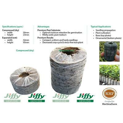 52mm XL Forestry Jiffy® Peat Pellets. Ideal for plant seed & cutting propagation