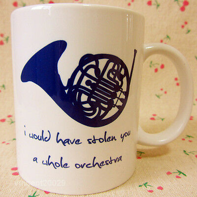 TV Series HIMYM How I Met Your Mother Blue Horn Ceramics Mug Coffee Cup Boy Gift