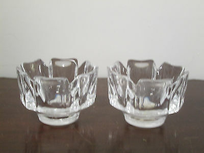 Orrefors Corona fine crystal 2-small bowls new in perffect condition