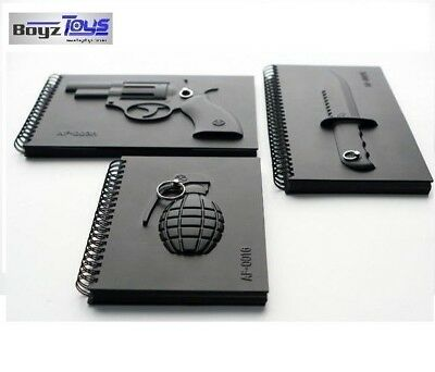 Armed Notebooks - Incl. 1 of each Grenade, Gun, Knife