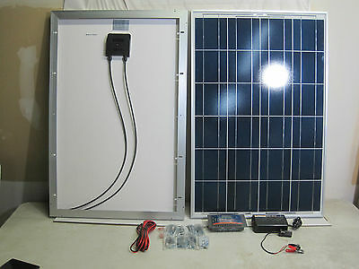 200 Watt Solar Panel Kit 200W 2pc 2x100W Watts Mono Off Grid 12V RV Boat