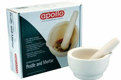 New Medium Size Porcelain Pestle And Mortar 118Mm Kitchen Utility Home By Apollo