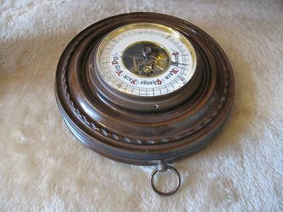 Vintage Lufft Barometer  Made In Germany Carved Wood #5419