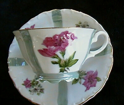 JAPAN LUSTER Teacup Saucer JAPANESE FINE CHINA Valentines or Mother's Day idea