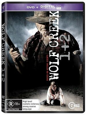 BRAND NEW Wolf Creek 1 + 2 Pack (DVD, 2014, 2-Disc Set) R4