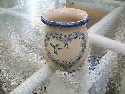 Home & Garden Party Candle Jar in Hummingbird Design. Used- partially burned