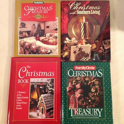 Lot of 4 Christmas Memory & Craft Hdbk Hardcover Books Family Circle GR03