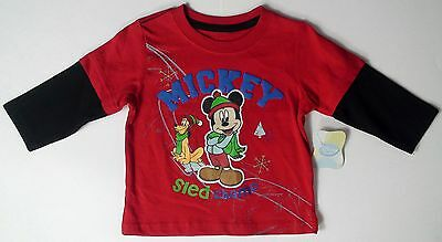 Baby boys Disney Mickey Mouse sled champ Pluto mock thermal infant size 12m-18m