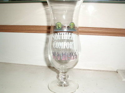 southern comfort hurricane glass party theme 18 oz new, unused