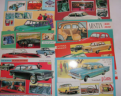 JENNA POSTCARDS 1991/92  - BRITISH CARS OF THE 50's & 60's SET 1 OF 16 CARDS