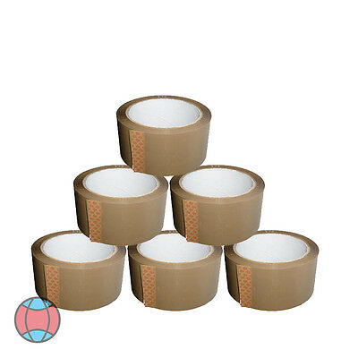 Brown 6X Strong Parcel Adhesive Packing Tape Packaging Carton Sealing 48Mm X 66M