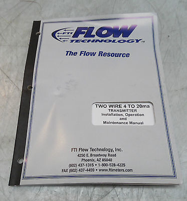 Flow Tech Two Transmitter Installation, Operation & Maintenance Manual