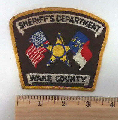 WAKE COUNTY (NC) SHERIFF'S DEPARTMENT Vintage Patch Law Enforcement