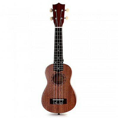 21 Inch Soprano Ukulele Uke Four Strings Musical Instrument Brown Professional