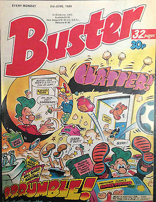 Buster 3rd June 1989 VF- 1st Print Free UK P&P Fleetway Comics Magazine