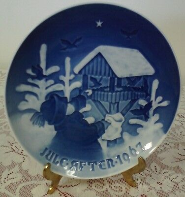 "JULE AFTEN 1967 BING & GRONDAHL COLLECTOR PLATE ""SHARING THE JOY OF CHRISTMAS"""
