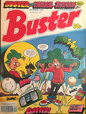 Buster 3rd March 1990 VF 1st Print Free UK P&P Fleetway Comics Magazine
