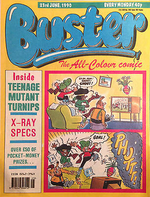 Buster 23rd June 1990 VG+ 1st Print Free UK P&P Fleetway Comics Magazine