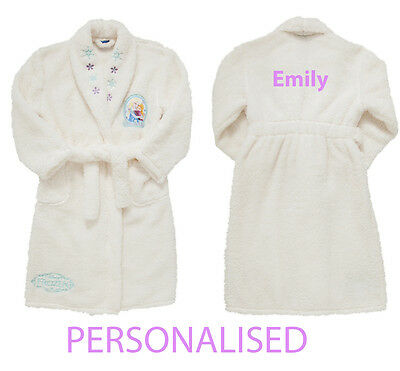 Personalised Baby Bath Robe Dressing Gown Disney Frozen