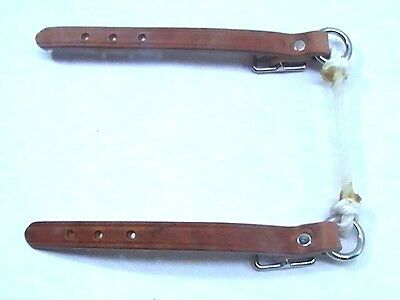 Berlin Custom Leather natural finish cowboy rope curb horse tack equine