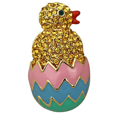 NEW KIRKS FOLLY EASTER PARADE CHICK PIN GOLDTONE