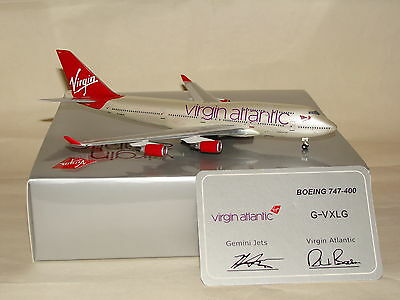 GJVIR1082 1:400 Gemini Jets Virgin Atlantic B747-400 G-VXLG free shipping