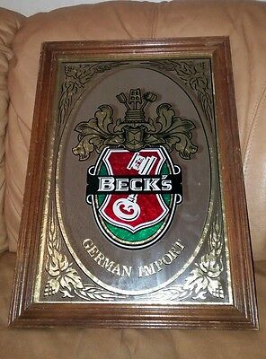 Becks Beer Bar Pub Man Cave Mirror Sign