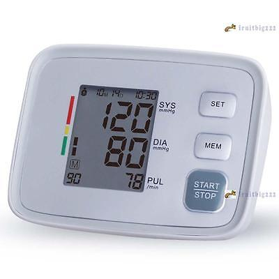 Fully Automatic Upper Arm Blood Pressure Monitor LCD Pulse Sphygmomanometer FB