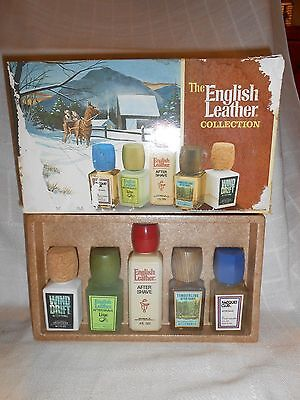 Vintage English Leather Cologne Gift Set TIMBERLINE WIND DRIFT RACQUET CLUB 9783