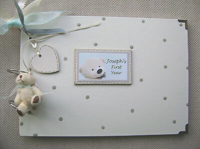 Personalised New Baby..  First Year. A4 Size Photo Album/scrapbook/memory Book.