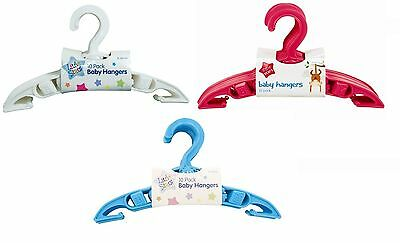 10x BABY CLOTHES HANGERS Toddler Childrens Maternity Kids Coat Space Saver Slim