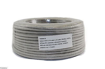 Professional Solid Core 50m CAT6 Cable Network Cable Lan Cable Category 6