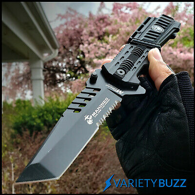 MTECH USMC TACTICAL FOLDING POCKET KNIFE Military Combat Assisted Blade MARINES