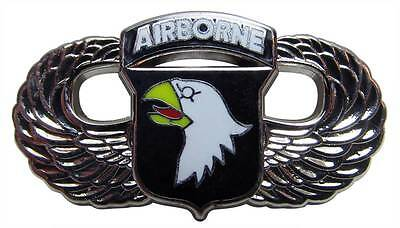 "US Army 101st Airborne Screaming Eagles Wings Paratrooper 1-1/4"" Lapel Hat Pin"