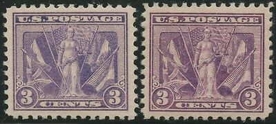 #537a (DEEP RED VIOLET) XF-SUPERB OG LH GEM WL8234