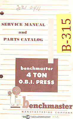Super Benchmaster 4 Ton Obi Press Service Operations And Parts Manual Wiring Cloud Nuvitbieswglorg
