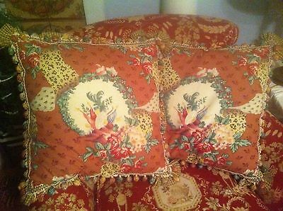 Glorious brunschwig And Fils Out Of Africa Custom Down French Country Pillows 2