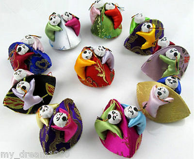 Wholesale 10pcs Embroidered Children Silk Jewelry Ring Bags Boxes