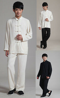 Free Shipping!Chinese Men's Long Sleeve Kung Fu Sets Suits Shadowboxing Costume
