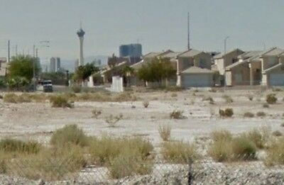 Home-site lot at end of street with a view of the strip!  NO RESERVE AUCTION!