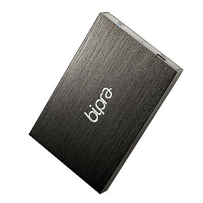 Bipra 320GB 2.5 inch USB 2.0 NTFS Slim External Hard Drive - Black