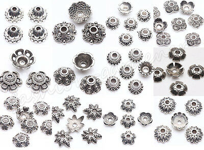 100pcs Tibet Silver Metal Charms Spacer Bead Caps 6/7/8/9/10mm Jewelry Finding