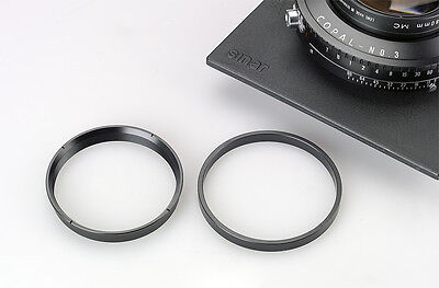 Large Format Lens Retaining Ring With Spacer for Copal #3 Shutter
