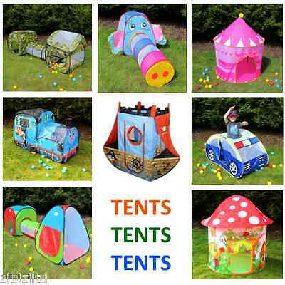Children's Playtent Play House Kids Play Tents Indoor Outdoor 10 various styles