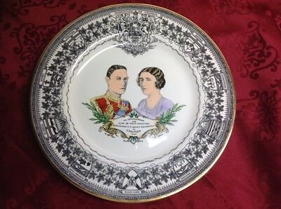 COLLECTORS PLATE KING GEORGE VI & QUEEN ELIZABETH 1939 VISIT TO CANADA~WILTON~