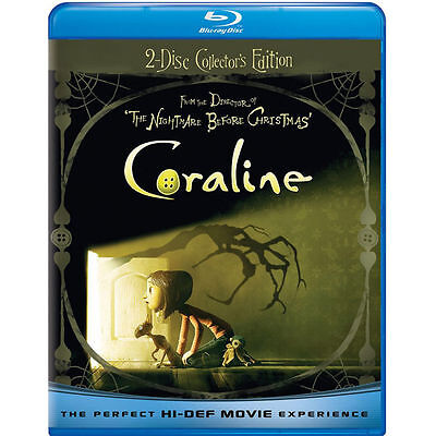 Coraline Blu-ray Disc 2-Disc Set Collector's Edition Quick Shipping NEW