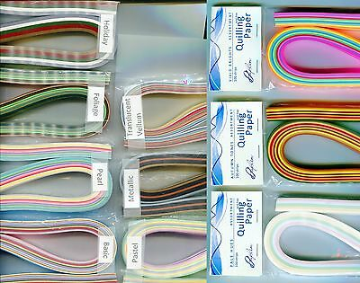 """Quilling Paper MULTI COLORED Packs Many ASSORTMENTS To Choose From 1"""" Wide"""