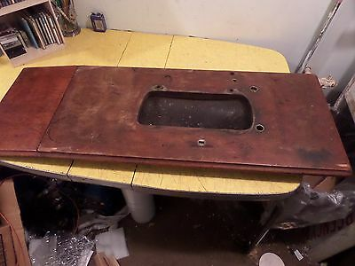 ANTIQUE SINGER TREADLE SEWING MACHINE  TOP Fiddle base table top 1885